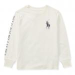 ビッグポニー・グラフィック・コットン長袖Tシャツ[ホワイト](男の子2〜7歳用)【ラルフローレン】