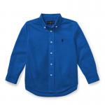 コットン・オクスフォード・長袖シャツ[ブルー](男の子2〜7歳用)【ラルフローレン】