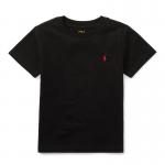 コットン・クルーネック・半袖Tシャツ[ブラック](男の子2〜7歳用)【ラルフローレン】