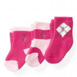 アーガイルソックス・3足セット[ピンク](女の子0〜6カ月用)
