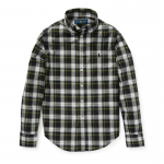 プレイドコットン・ポプリン長袖シャツ[2色展開](男の子2〜7歳用)