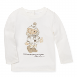 ホリデイベアー・長袖Tシャツ[ホワイト](女の子12〜24か月用)