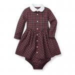 タータン・長袖シャツドレス[レッドマルチ](女の子12〜24か月用)