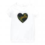ポロハート・グラフィック・半袖Tシャツ[ホワイト](女の子12〜24か月用)