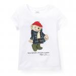 ウィリーベアー・コットン・半袖Tシャツ[ホワイト](女の子2〜7歳用)