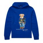 ポロベアー・フード付き・長袖Tシャツ[ブルー](ボーイズS〜XL)
