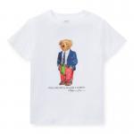 ベアー・コットン・半袖Tシャツ[ホワイト](男の子2〜7歳用)