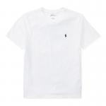 コットン・Vネック・半袖Tシャツ[ホワイト](ボーイズS〜XL)