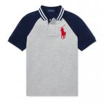 ビッグポニー・ラグラン・半袖ポロシャツ[グレーマルチ](ボーイズS〜XL)