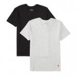 <img class='new_mark_img1' src='https://img.shop-pro.jp/img/new/icons15.gif' style='border:none;display:inline;margin:0px;padding:0px;width:auto;' />ソリッドコットン・Vネック半袖インナーTシャツ・2枚セット[グレー&ブラック](ボーイズS〜XL)