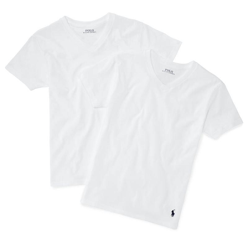 ソリッドコットン・Vネック半袖インナーTシャツ・2枚セット[3色展開](ボーイズS〜XL)