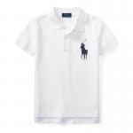 ビッグポニー・コットンメッシュ・半袖ポロシャツ[3色展開](男の子2〜7歳用)
