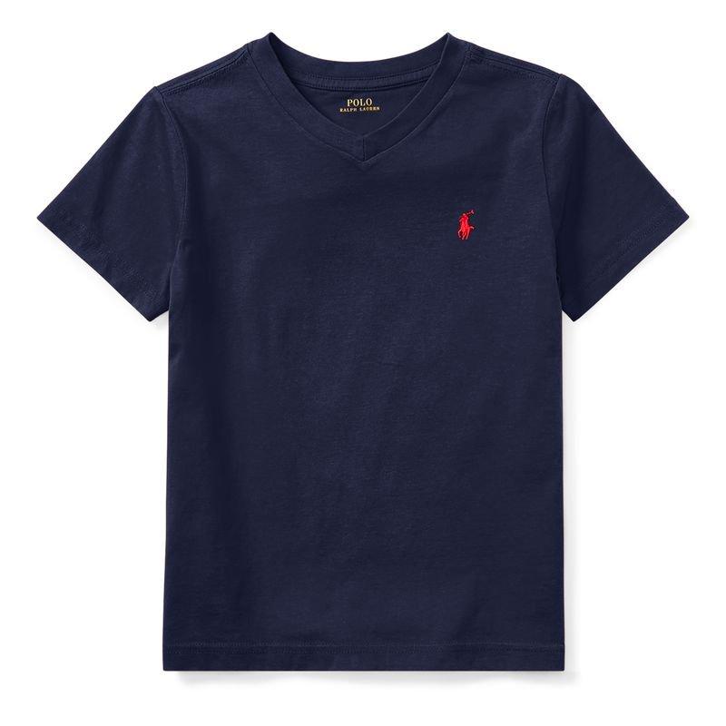 コットン・Vネック・半袖Tシャツ[5色展開](男の子2〜7歳用)