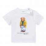 <img class='new_mark_img1' src='https://img.shop-pro.jp/img/new/icons15.gif' style='border:none;display:inline;margin:0px;padding:0px;width:auto;' />ポロベア・コットン・半袖Tシャツ[ホワイト](男の子12〜24か月用)