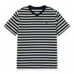 <img class='new_mark_img1' src='https://img.shop-pro.jp/img/new/icons15.gif' style='border:none;display:inline;margin:0px;padding:0px;width:auto;' />ストライプ・コットンブレンド・半袖Tシャツ[3色展開](ボーイズS〜XL)