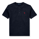 フェザーウェイト・ヘンリーネック・半袖Tシャツ[3色展開](ボーイズS〜XL)