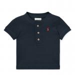 フェザーウェイト・ヘンリーネック・半袖Tシャツ[4色展開](男の子12〜24か月用)