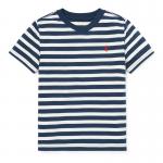 ストライプ・コットンブレンド・半袖Tシャツ[3色展開](男の子2〜7歳用)