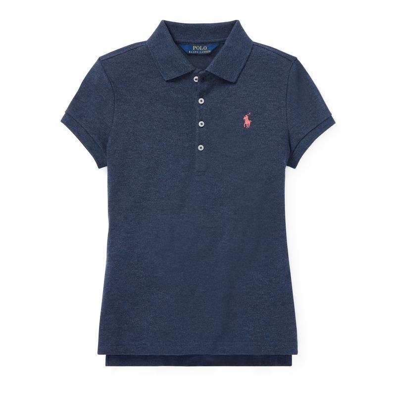 64a01e05f1769 ストレッチメッシュ・半袖ポロシャツ ネイビー (ガールズS XL)(カラー...(5