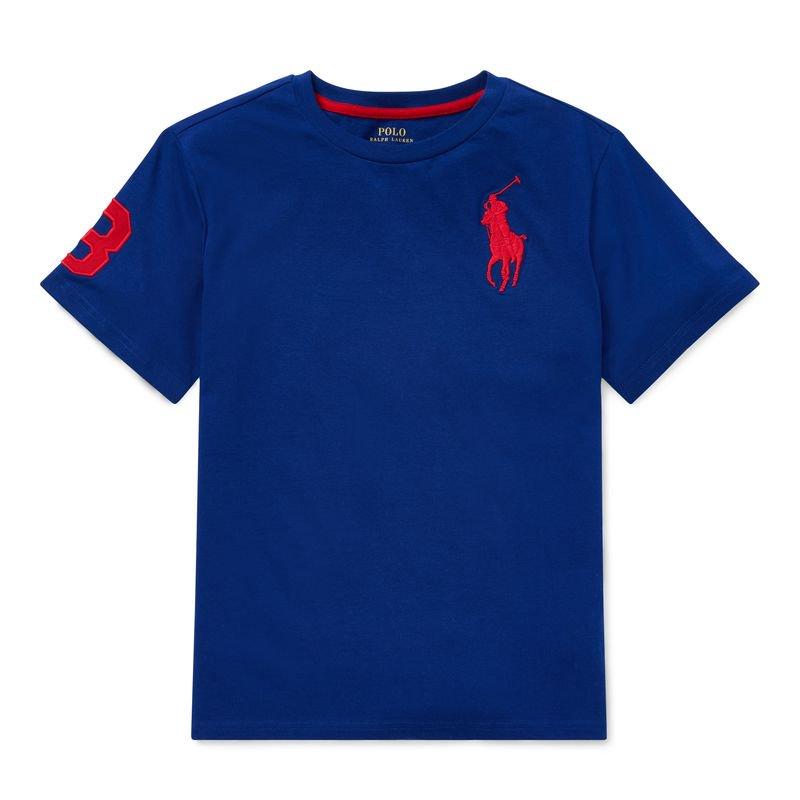 ビッグポニー・コットン・半袖Tシャツ[7色展開](ボーイズS〜XL)