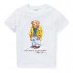 <img class='new_mark_img1' src='https://img.shop-pro.jp/img/new/icons15.gif' style='border:none;display:inline;margin:0px;padding:0px;width:auto;' />ポロベア・コットン・半袖Tシャツ[ホワイト](男の子2〜7歳用)