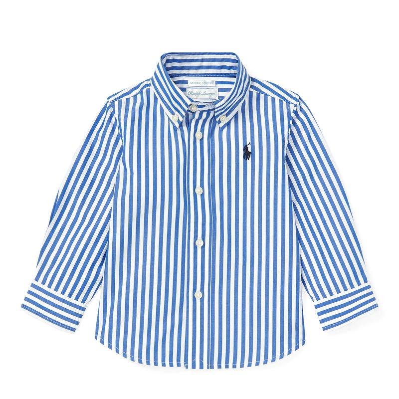 ベンガルストライプ・コットン・長袖シャツ[2色展開](男の子12〜24か月用)