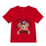 <img class='new_mark_img1' src='https://img.shop-pro.jp/img/new/icons15.gif' style='border:none;display:inline;margin:0px;padding:0px;width:auto;' />ポロベア・コットン・半袖Tシャツ[レッド](男の子12〜24か月用)