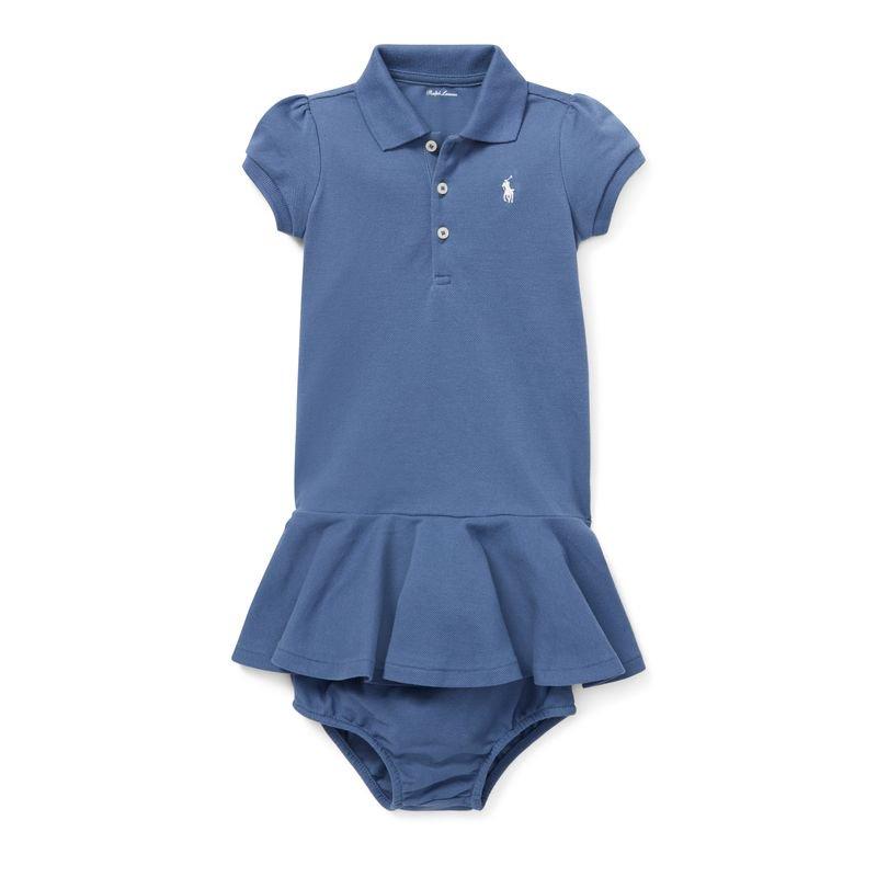 ぺプラム・ポロ・半袖ドレス[2色展開](女の子0〜24か月用)