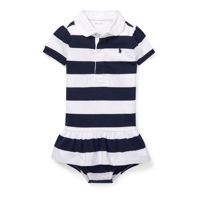 コットン・ジャージーラグビー・半袖ドレス[2色展開](女の子0〜24か月用)
