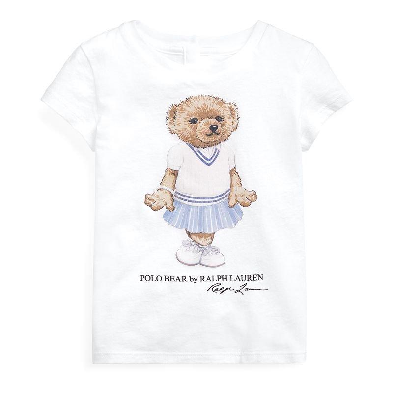 クリケットベア・コットン・半袖Tシャツ[ホワイト](女の子12〜24か月用)