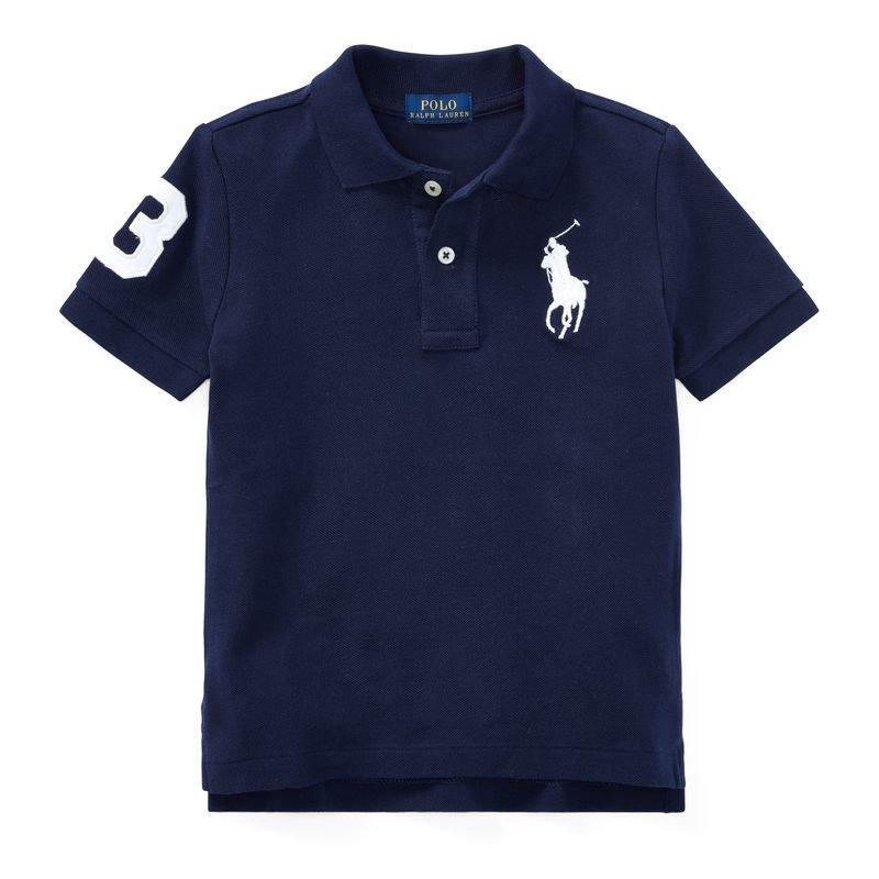 ビッグポニー・コットンメッシュ・半袖ポロシャツ[10色展開](男の子2〜7歳用)