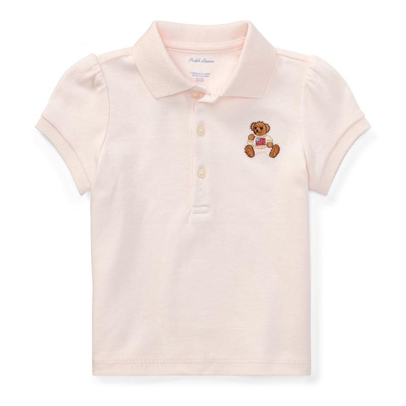 ポロベア・コットン・半袖ポロシャツ[ピンク](女の子12〜24か月用)