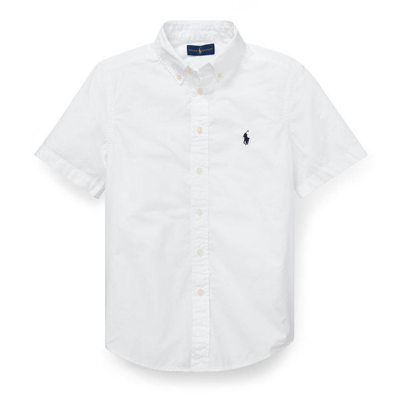 コットン・ポプリン・半袖シャツ[3色展開](ボーイズS〜XL)