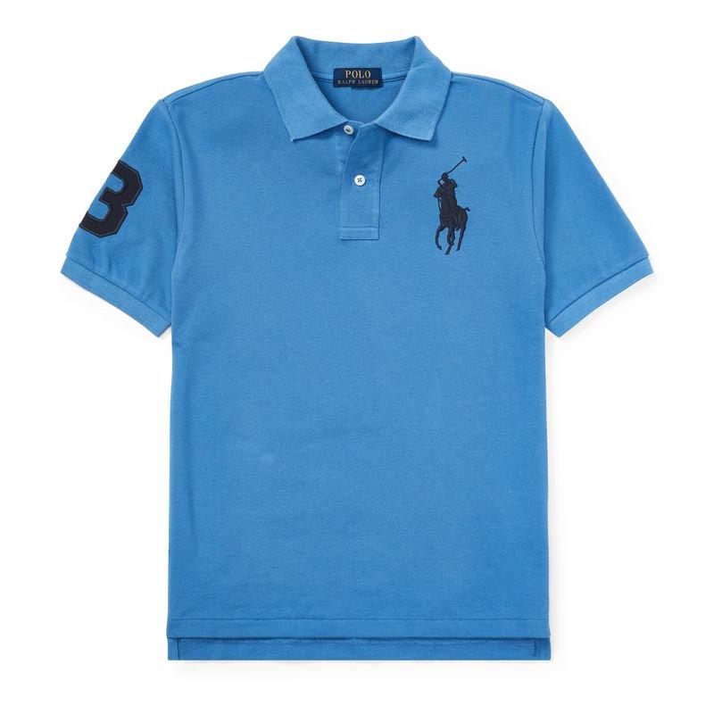 ビッグポニー・コットンメッシュ・半袖ポロシャツ[3色展開](ボーイズS〜XL)