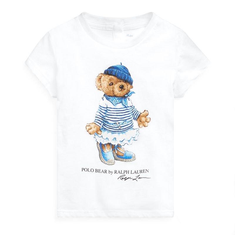 <img class='new_mark_img1' src='https://img.shop-pro.jp/img/new/icons15.gif' style='border:none;display:inline;margin:0px;padding:0px;width:auto;' />リベラベア・コットン・半袖Tシャツ[ホワイト](女の子12〜24か月用)