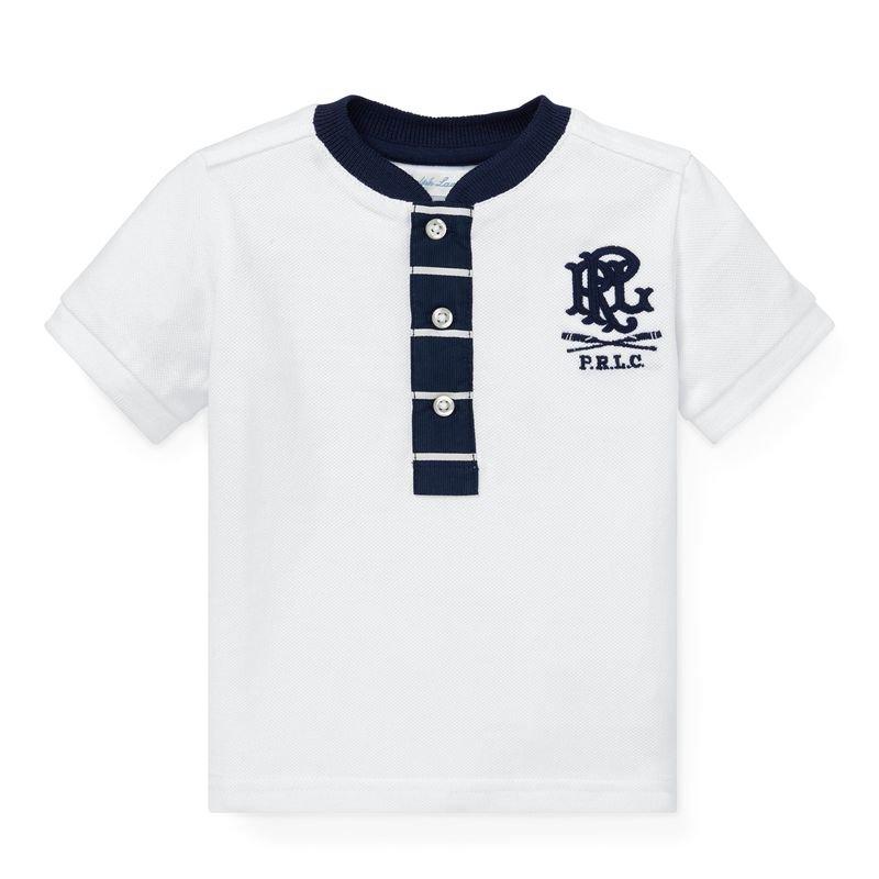 コットンメッシュ・ヘンリーネック半袖Tシャツ[2色展開](男の子12〜24か月用)