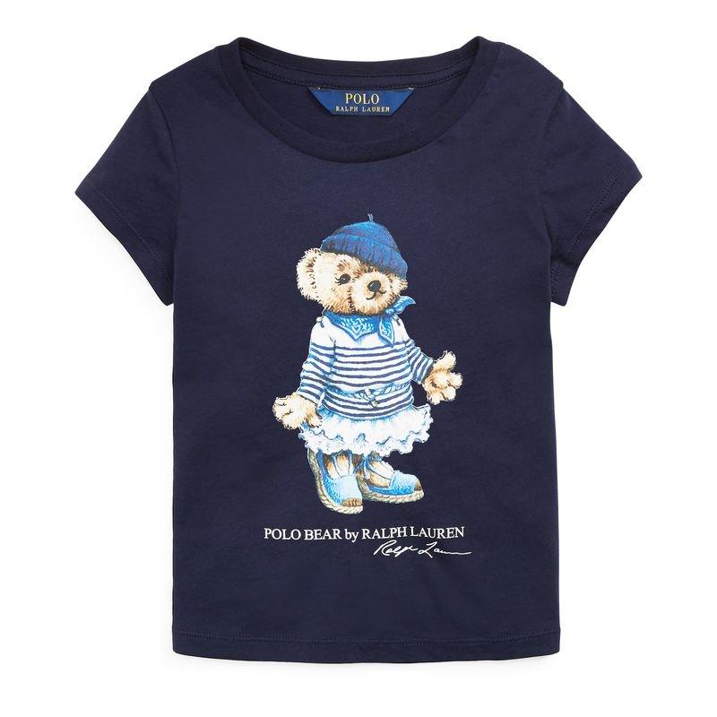マルセイユベア・コットン・半袖Tシャツ[2色展開](女の子2〜7歳用)
