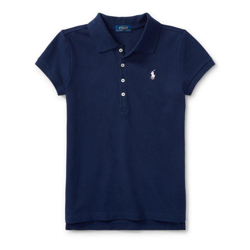 コットン・半袖ポロシャツ[4色展開](ガールズS〜XL)