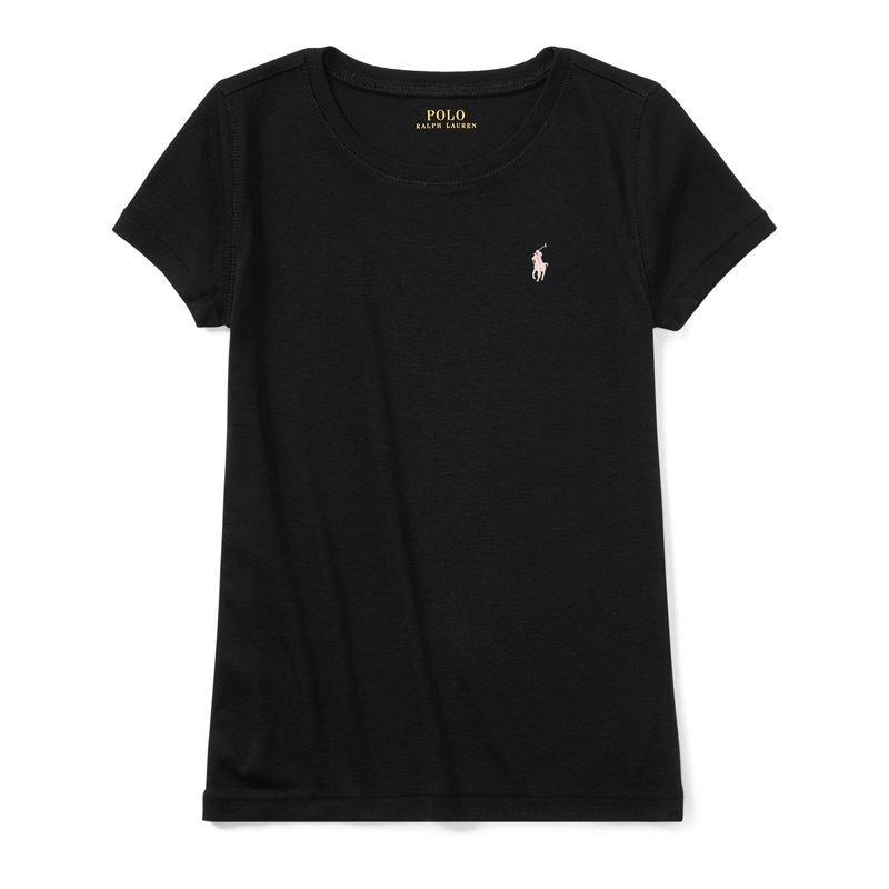 クルーネック・半袖Tシャツ[ネイビー](ガールズS〜XL)
