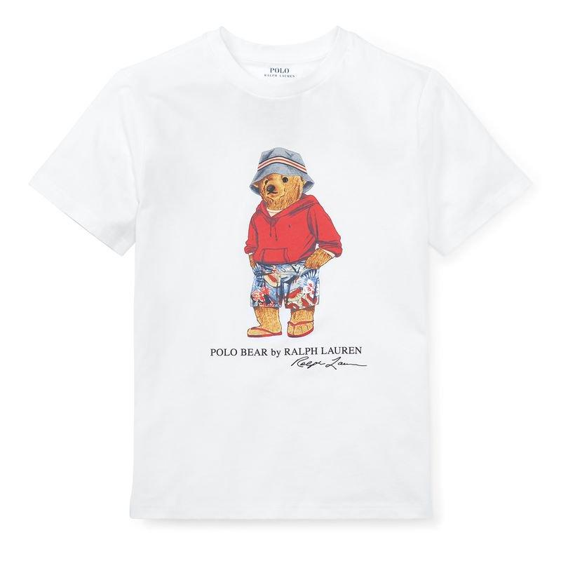 ポロベア・コットン・半袖Tシャツ[ホワイト](ボーイズS〜XL)