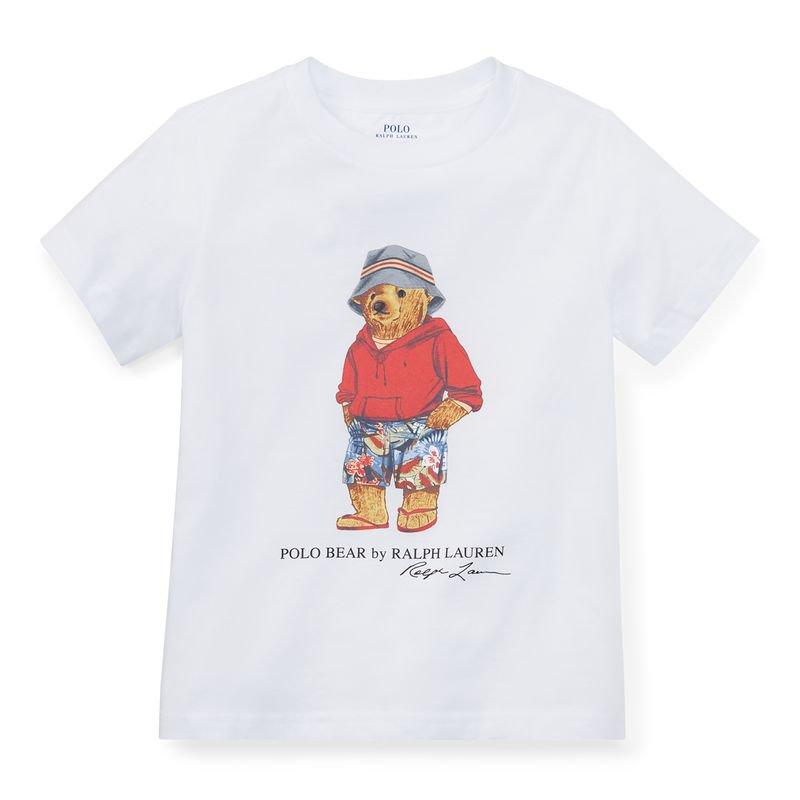 スプリングベア・コットン・半袖Tシャツ[ホワイト](男の子2〜7歳用)