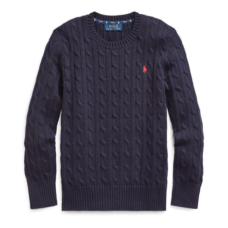 ケーブルニット・コットン・セーター[4色展開](ボーイズS〜XL)