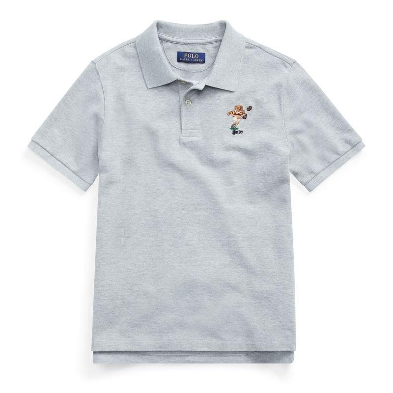 キッカーベア・コットンメッシュ・半袖ポロシャツ[2色展開](ボーイズS〜XL)