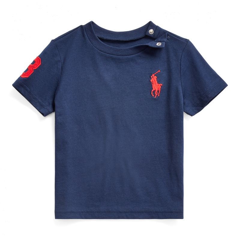 <img class='new_mark_img1' src='https://img.shop-pro.jp/img/new/icons15.gif' style='border:none;display:inline;margin:0px;padding:0px;width:auto;' />ビッグポニー・コットン・半袖Tシャツ[3色展開](男の子12〜24か月用)