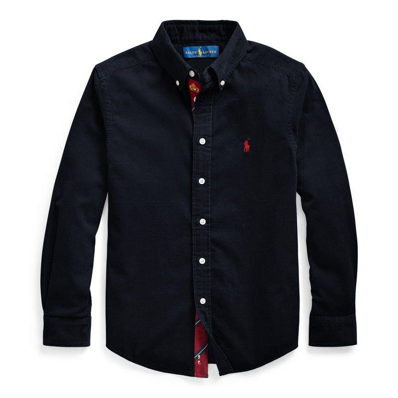 コットン・コーデュロイ・長袖シャツ[3色展開](ボーイズS〜XL)