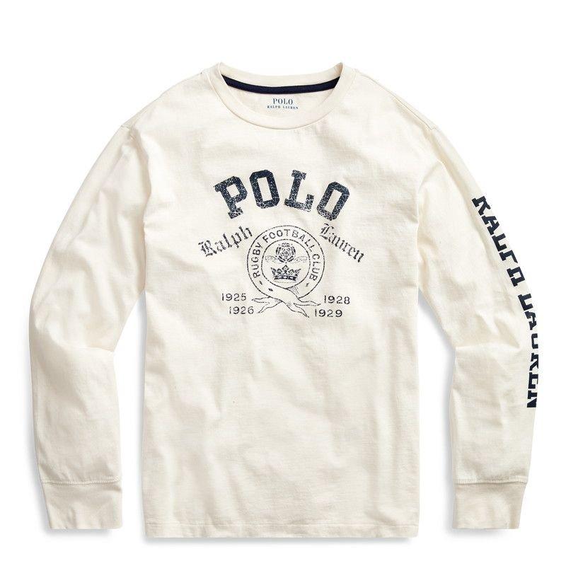 POLO・コットン・グラフィック・長袖Tシャツ[4色展開](ボーイズS〜XL)