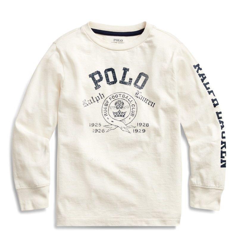 POLO・コットン・グラフィック・長袖Tシャツ[4色展開](男の子2〜7歳用)