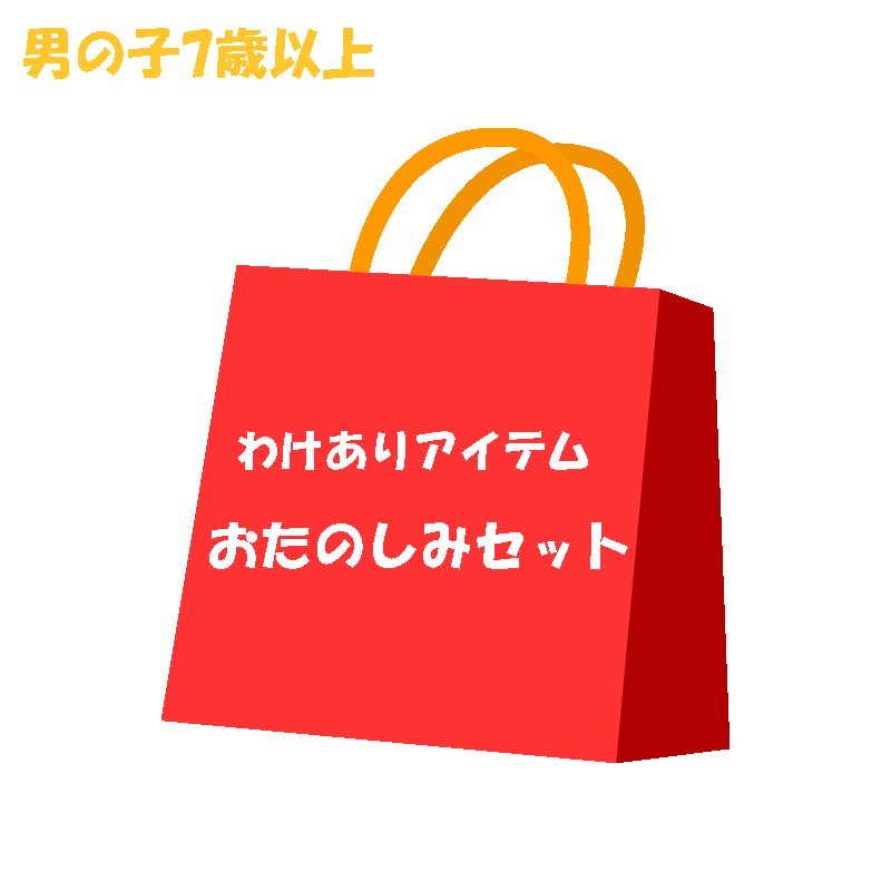 <img class='new_mark_img1' src='https://img.shop-pro.jp/img/new/icons16.gif' style='border:none;display:inline;margin:0px;padding:0px;width:auto;' />【送料無料】わけあり特価品おたのしみセット(男の子7歳以上)