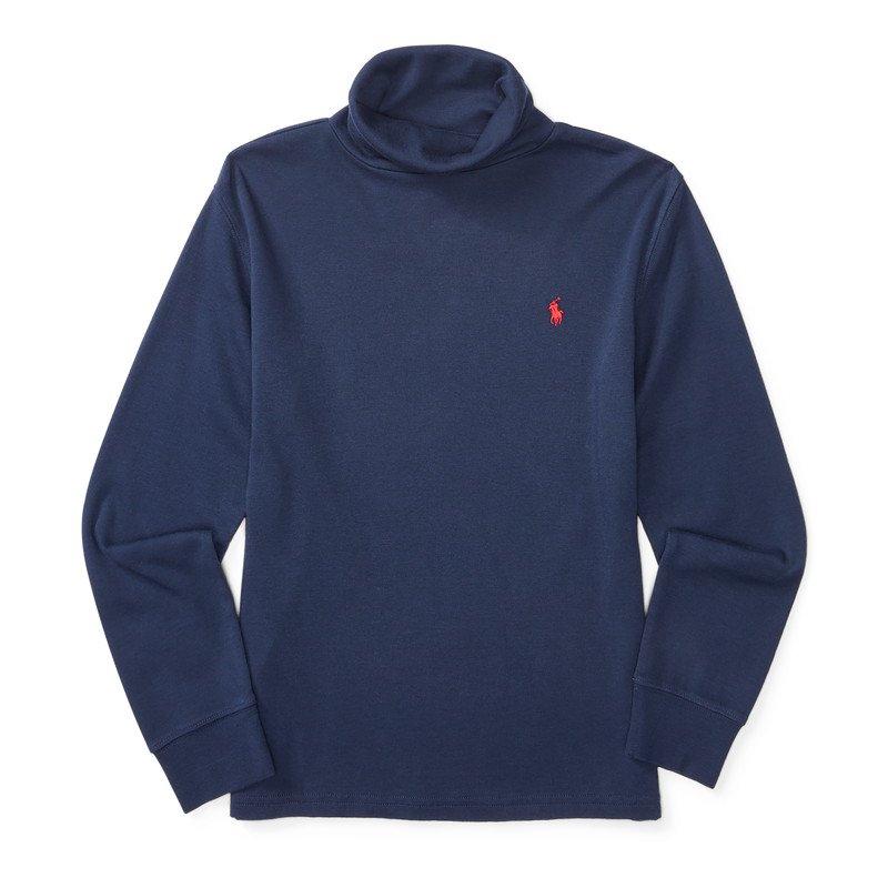 コットン・インターロック・タートルネック長袖Tシャツ[2色展開](ボーイズS〜XL)