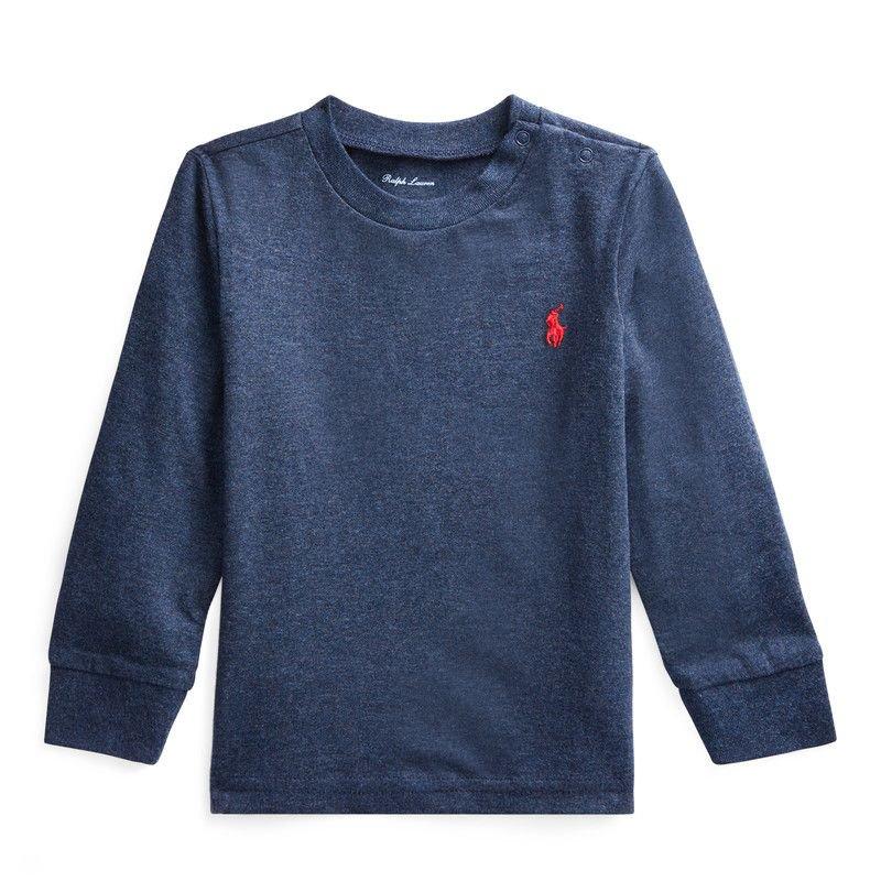 コットン・クルーネック・長袖Tシャツ[6色展開](男の子12〜24か月用)